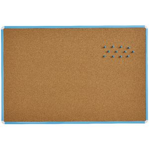 J.Burrows Cork Board 900 x 600mm Blue