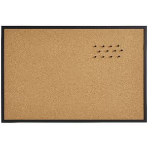 J.Burrows Cork Board 900 x 600mm Black