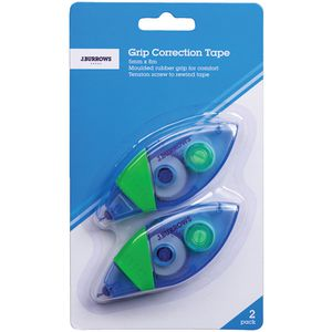 J.Burrows Grip Correction Tape 5mm x 8m 2 Pack