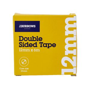 J.Burrows Double Sided Tape 12mm x 6m