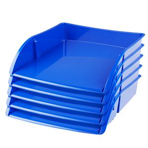 J.Burrows Document Tray Blue 12 Pack