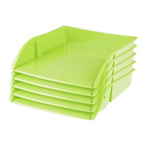 J.Burrows Document Tray Green 12 Pack