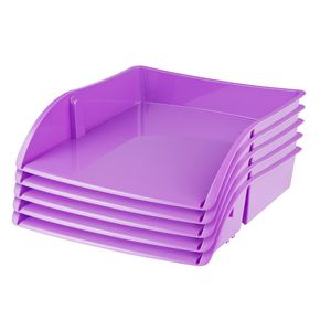 J.Burrows Document Tray Purple 12 Pack