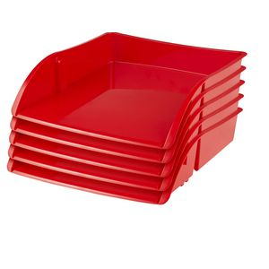 J.Burrows Document Tray Red 12 Pack