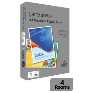 J.Burrows Premium 210gsm A4 Copy Paper 250 Sheets 4 Pack at Officeworks in Campbellfield, VIC | Tuggl