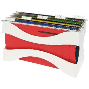 J.Burrows Desktop Filer with 5 Assorted Foolscap Files