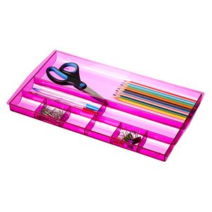 J.Burrows Drawer Tidy Tinted Pink