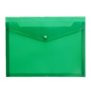J.Burrows Document Wallet A4 Button Closure Green