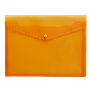 J.Burrows Document Wallet A4 Button Closure Orange