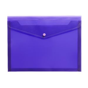 J.Burrows Document Wallet A4 Button Closure Purple