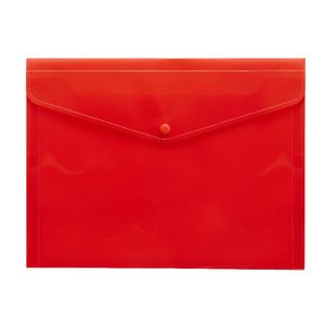J.Burrows Document Wallet A4 Button Closure Red