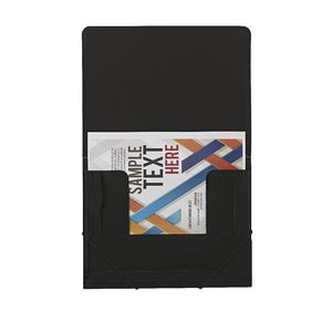 J.Burrows A4 Document Wallet with Elastic Closure Black
