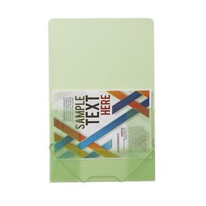 J.Burrows A4 Document Wallet with Elastic Closure Lime