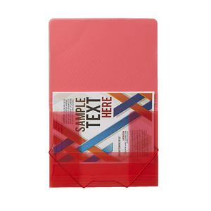 J.Burrows A4 Document Wallet with Elastic Closure Red