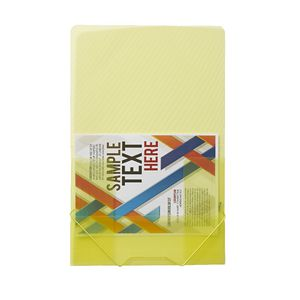 J.Burrows A4 Document Wallet with Elastic Closure Yellow