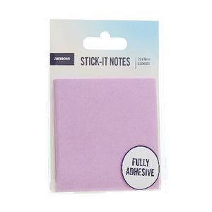 J Burrows Full Adhesive Stick It Notes 76 X 76mm Purple