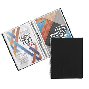 J.Burrows Display Book A4 20 Pocket Fixed Black