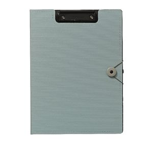 J.Burrows A4 Foam Clipfolder Dusty Blue