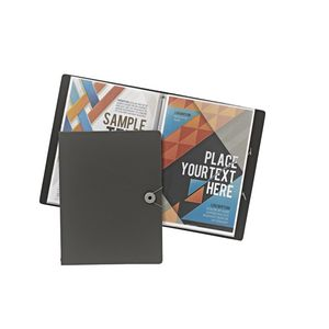 J.Burrows Foam Display Book A4 20 Pocket Fixed Grey