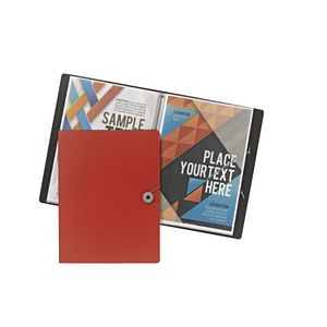 J.Burrows A4 Foam Display Book 20 Pockets Red