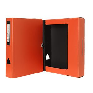 J.Burrows A4 Foam Document Box Orange