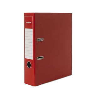 J.Burrows Gloss Lever Arch File A4 2 Ring Red