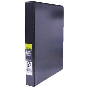 J.Burrows Insert Binder A4 2 D-Ring 25mm Black