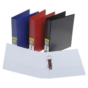 J.Burrows Insert Binder A4 2 D-Ring 38mm Red 15 Pack