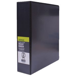 J.Burrows Insert Binder A4 2 D-Ring 50mm Black