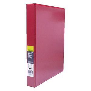 J.Burrows Insert Binder A4 3 D-Ring 25mm Red