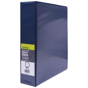 J.Burrows Insert Binder A4 3 D-Ring 50mm Blue