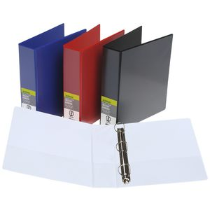 J.Burrows Insert Binder A4 3 D-Ring 50mm Red 12 Pack
