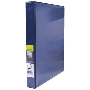 J.Burrows Insert Binder A4 4 D-Ring 25mm Blue