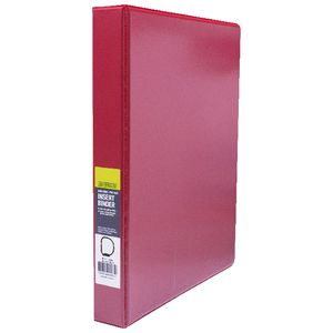 J.Burrows Insert Binder A4 4 D-Ring 25mm Red