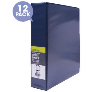 J.Burrows Insert Binder A4 4 D-Ring 50mm Blue 12 Pack