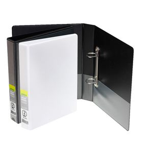 J.Burrows Insert Binder A5 2 D-Ring 25mm Black 25 Pack