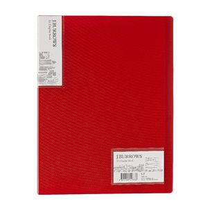 J.Burrows Ice Display Book A4 20 Pocket Fixed Red