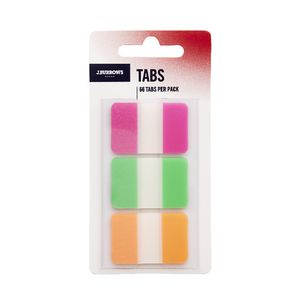 J.Burrows Tabs 25 x 38mm Assorted 3 Pack