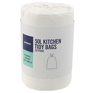 J.Burrows 50L Kitchen Tidy Bags Unscented 50 Pack