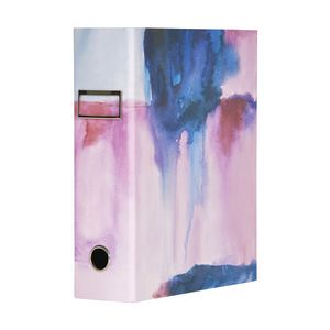 Otto A4 Lever Arch File 70mm Foil Watercolour Blue
