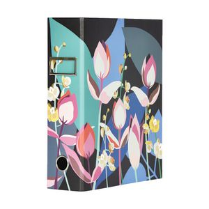 Otto A4 Lever Arch File 70mm Floral Gold