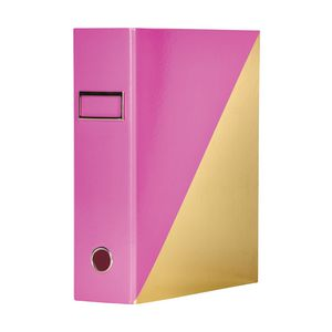 Otto A4 Lever Arch File 70mm Foil Pink Gold