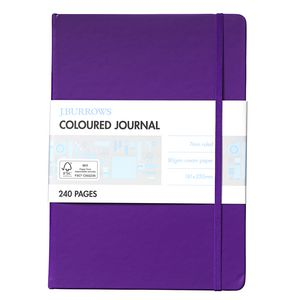 J.Burrows Large Coloured Journal 240 Pages Purple