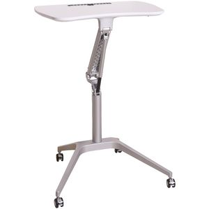 Matrix Height Adjustable Portable Table White | Tuggl