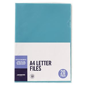 J.Burrows Letter File A4 Blue 20 Pack