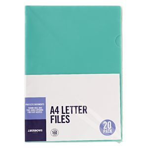 J.Burrows Letter File A4 Green 20 Pack