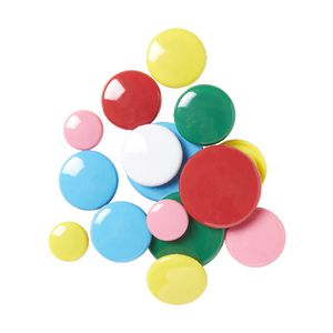 J.Burrows Round Magnets Assorted 45 Pack