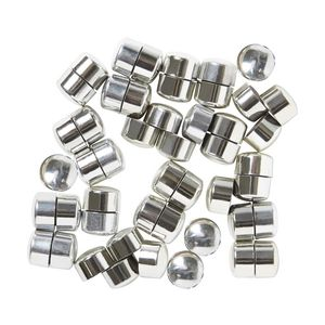 J.Burrows Round Magnets Silver 48 Pack