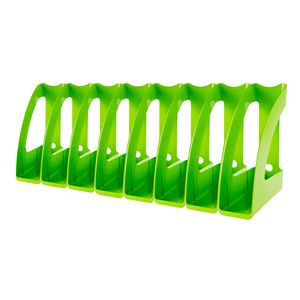 J.Burrows Magazine File Green 8 Pack
