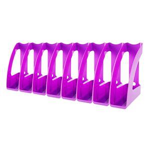 J.Burrows Magazine File Purple 8 Pack